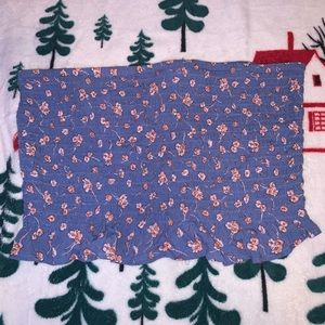 AMERICAN EAGLE Tube Top Floral Pattern Size Large